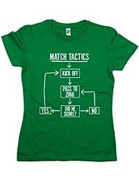 Balcony-Shirts Match Tactics - Pass To Zoko' Womens Funny Football T Shirt