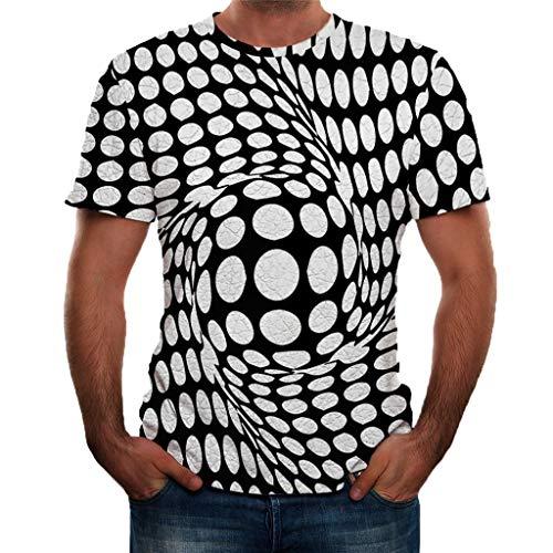 TWISFER Herren 3D Grafik Gedruckt Kurzarm T-Shirts Sommer Casual Tees Tops Kurzarm O-Ausschnitt Party Shirts Streetswear Hemden -