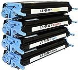 Bubprint 4 Toner kompatibel für HP Q6000A Q6001A Q6002A Q6003A 124A für Color Laserjet 1600 2600 2600N 2605 2605DN 2605DTN CM1000 CM1015 CM1017 CP2600