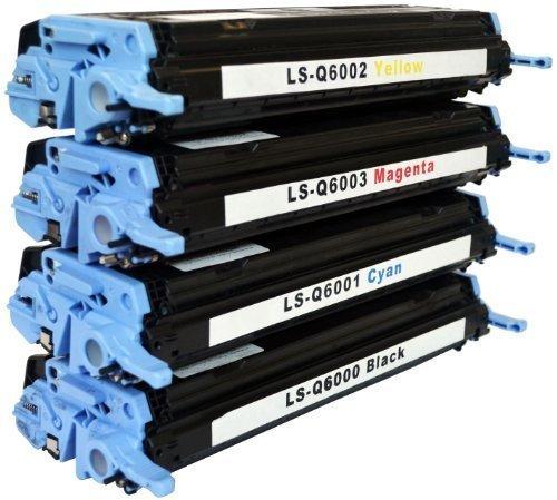 Bubprint 4 Toner kompatibel für HP Q6000A Q6001A Q6002A Q6003A 124A für Color Laserjet 1600 2600 2600N 2605 2605DN 2605DTN CM1000 CM1015 CM1017 CP2600 -