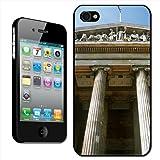 Fancy A Snuggle - Carcasa rígida para iPhone 4 y 4s, diseño de la fachada del Museo Británico en Londres