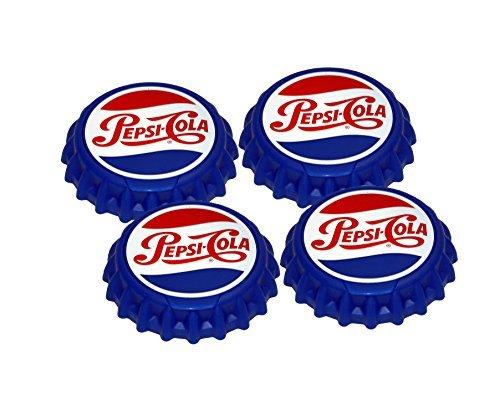 Jokari 18002P1 4 Count Pepsi Heritage Logo Snap and Sip Can Cap, rot/weiß/blau von Jokari