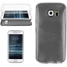 Urcover® Samsung Galaxy S6 Edge | Funda Carcasa 360 Grados Ultra Slim Metálico | TPU en Negro | Case Cover Protección completa Smartphone Móvil Accesorio