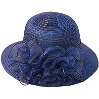 Pamela - para Mujer Mujer Sol Verano Algodón Sombrero De ala Ancha Tapa  Abatible UPF 50 29dd2cc93cc