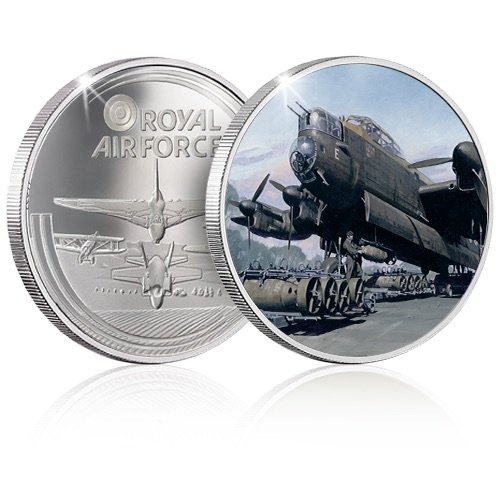 The RAF Collection Silver Coin Medal - Lancaster - Bomber Force