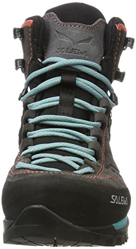 Salewa Damen Ws Mtn Trainer Mid Gore-Tex Trekking-& Wanderstiefel Grau (Magnet/Viridian Green 0674)