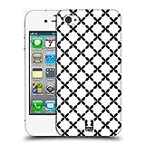 Head Case Designs X Marks Schwarz-Weiss Muster Ruckseite Hülle für Apple iPhone 4 / 4S