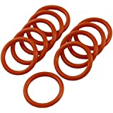 Tradico® 18mm X 2mm Silicone O Ring Oil Sealing Washers Grommets Red 10 Pcs