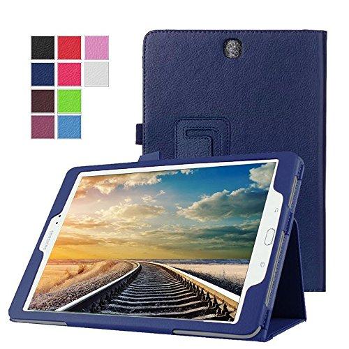 cover tablet samsung tab a 9.7 DETUOSI Custodia Samsung Tab A SM-T550 Pelle Protettiva Custodia in Pelle per Tablet Samsung Galaxy Tab A SM-T550 SM-T555 Tablet de 9.7   Pollici Smart Case Flip Cover con Supporto-Blu Scuro