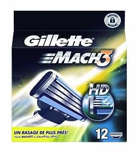 Gillette Lames Mach 3 Manuel Testé Dermatologiquement x 12