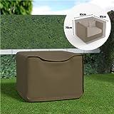 EDM Funda sofa 1 plaza impermeable color marron claro 95x95x70cm