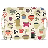 Freelance Bamboo Fibre Kitchen And Dining Wood Serving Tray, Multicolour (DS99BF7701)