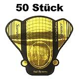 1 Packung (50 Stück) selbstklebende BUTTERFLY Goldschablonen Modellier Schablonen extra-breit für die künstliche Fingernagel-Modellage