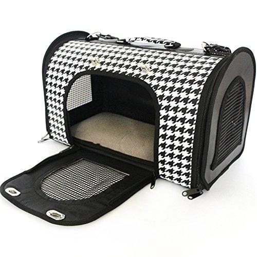 Nibesser Transporttasche für Haustier Katzentragetasche Weich-seitig Tasche Mit Matte Für Hunde & Katzen Komfort Airline