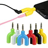 MK Mini 3.5mm Audio male2Female Earphone Headphone Mic Splitter Cable Laptop/Mobile Assorted Color