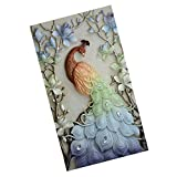 #5: MagiDeal Diamond Inlay Painting Traditional Peacock Cross Stitch Kit Room Decoration - 4