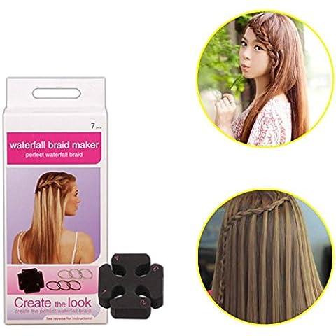 XYXY Piatto veloce spugna capelli ciuffo fai da te capelli e capelli styling strumento vassoio (confezione da 10)