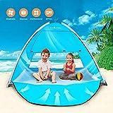 TIYASTUN Tenda da Spiaggia con Porta con Cerniera Parasole Pop Up Automatica Protezione UV Antivento Portatile Pieghevole Ideale per Famiglia in 2-3 Persone all'Esterno per Campeggio Pesca Parco