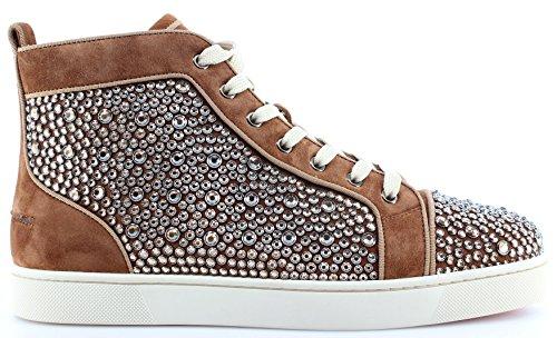 CHRISTIAN LOUBOUTIN Paris Zapatos Hombre Sneakers Louis Orlato Flat India Strass
