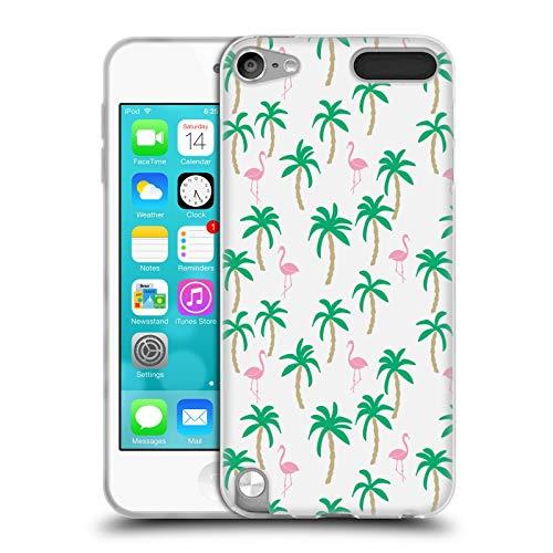 Offizielle Andrea Lauren Design Weisser Flamingo Voegel Soft Gel Hülle für Apple iPod Touch 5G 5th Gen