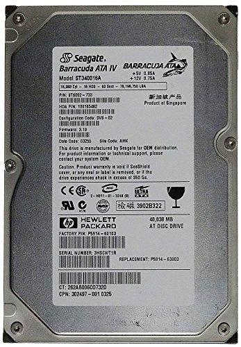 40GB AT HDD Seagate Barracuda ATA IV ST340016A IDE ID11439 -