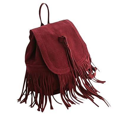 chendongdong femmes sac à main sac à bandoulière en cuir Sac à dos à franges Vintage Fashion