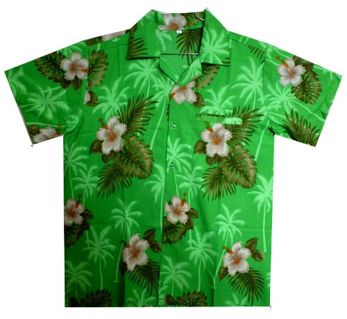 Funky-Camisa-Hawaiana-Small-Flower-verde-M