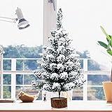 A-szcxop 50cm Mini árbol de Navidad árbol cubierto de nieve de escritorio con árbol de Navidad artificial para hogar y Oficina decoracion de escritorio