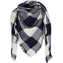 PiriModa XXL écharpe écharpe d hiver écharpe à Carreaux Couverture Rigide  Carreaux Double ... 959126077e9
