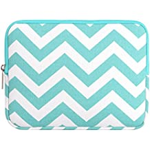 MOSISO - Estilo Chevron Tela de Lona Funda Blanda Bolso Sleeve para iPad Air / iPad 4 3 2 / Samsung Galaxy Tab 4, 3, Note Tablets, Azul Caliente