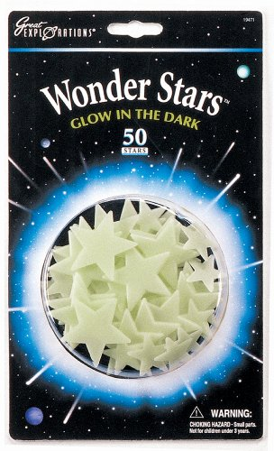 university-games-29010-pack-de-estrellas-luminiscentes-decorativas-blancas