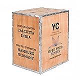 Original Teekiste aus Holz-Teekiste Darjeeling - Vintage aus Übersee - Maße 60x50x40