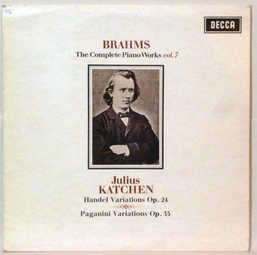 THE COMPLETE PIANO WORKS VOL. 7 SXL 6218 NB [VINYL] (Johannes Brahms Complete Works)