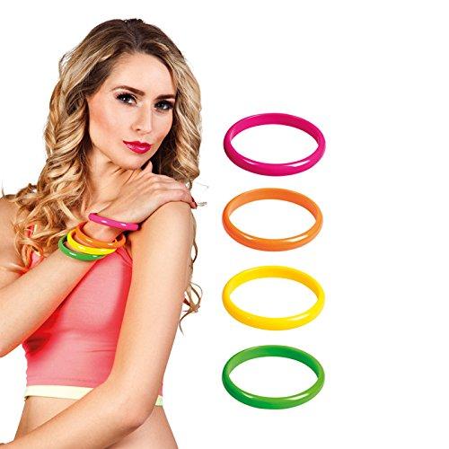 Boland-BOL64454 Armbänder, mehrfarbig, 4 Stück, Erwachsene, BOL64454