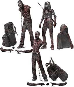 Unbekannt Walking Dead TV Serie 3BLOODY und Action Figur (schwarz/weiß), 3Stück