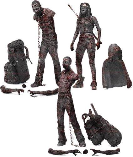 Carl-figur (Walking Dead TV Serie 3BLOODY und Action Figur (schwarz/weiß), 3Stück)