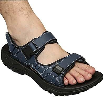 Yiiquan Sandali Sportivi Estivi Scarpe da Spiaggia per Uomo Casual Sandalo da Acqua Traspirante Coreano (Blu, Asia 38)