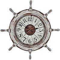 xinba Estilo Mediterráneo Reloj De Ancla Playa Mar Temático Náutico Estrella De Mar Volante Timbre Decoración De La Pared Simple Personalidad Reloj De Cuarzo Mudo (66x66x6.8cm) Relojes de pared ( Color : D )