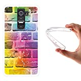 LG G2 Hülle, WoowCase Handyhülle Silikon für [ LG G2 ] Ziegelsteinmauer 2 Handytasche Handy Cover Case Schutzhülle Flexible TPU - Transparent