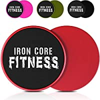 Iron Core Fitness 2 x Dual Sided Gliding Discs Core Sliders Ultimate Core Trainer | Gym, Home Abdominal & Total Body Workout Equipment | For use on ALL surfaces