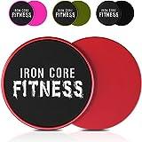 Iron Core Fitness - Lot de 2 disques de fitness glissants double face - Équipement d'entraînement du corps entier et des abdominaux - Pour toutes les surfaces