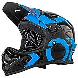 O'Neal Backflip RL2 Slick Fahrrad Helm Downhill MTB Mountain Bike FR DH Fullface, 0500-L, Farbe Schwarz Blau, Größe L