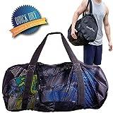 Athletico Mesh Dive Duffel Tasche für Tauchen oder Schnorcheln - XL Mesh Travel Duffle für Tauchen und Schnorcheln Ausrüstung und Ausrüstung - Dry Bag hält Maske, Flossen, Schnorchel und vieles mehr