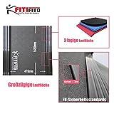 Fitifito® Laufband Heimtrainer Fitnessgerät 99+ Programme klappbar LED Bildschirm Dämpfung (EMEC660B) - 4