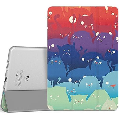 MoKo iPad Pro 9.7 Funda - Ultra Slim Función de Soporte Protectora Plegable Smart Cover Trasera Transparente Durable (Auto Sueño / Estela) Para Apple iPad Pro 9.7 2016 Tableta, Totoro