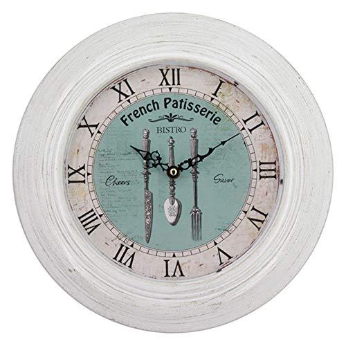 Keliour-hom Vintage Wanduhr Kreative Blume Römische Ziffern Uhr Dekorativ for Modern Home Office Club (Farbe : Weiß, Größe : 32x32x4.5cm) -