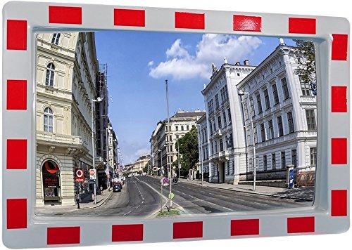 VERKEHRSSPIEGEL rechteckig 60 x 40 cm Sicherheitsspiegel Spiegel Beobachtungsspiegel Safety Mirror