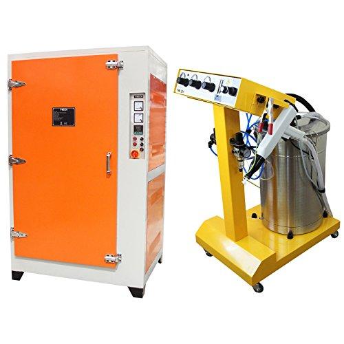 T-Mech - Macchina di Verniciatura a Polvere Elettrostatica 45 Litri & Forno per Termoindurimento
