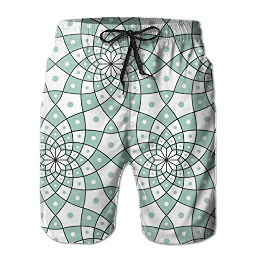 IconSymbol Men's Quick Dry Swim Trunks SC ~ Spotted Bird Colorful Beach Shorts with Mesh Lining - Spotted Bird
