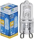 Long Life Lamp Company G9 Halogen Light Bulb Capsule Lamp, 40 W - Warm White, Pack of 10